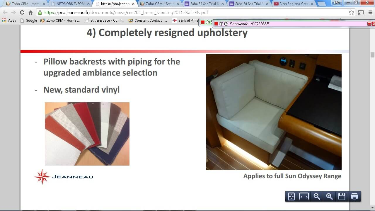 Upholstery - Atlantic Cruising Yachts, LLC