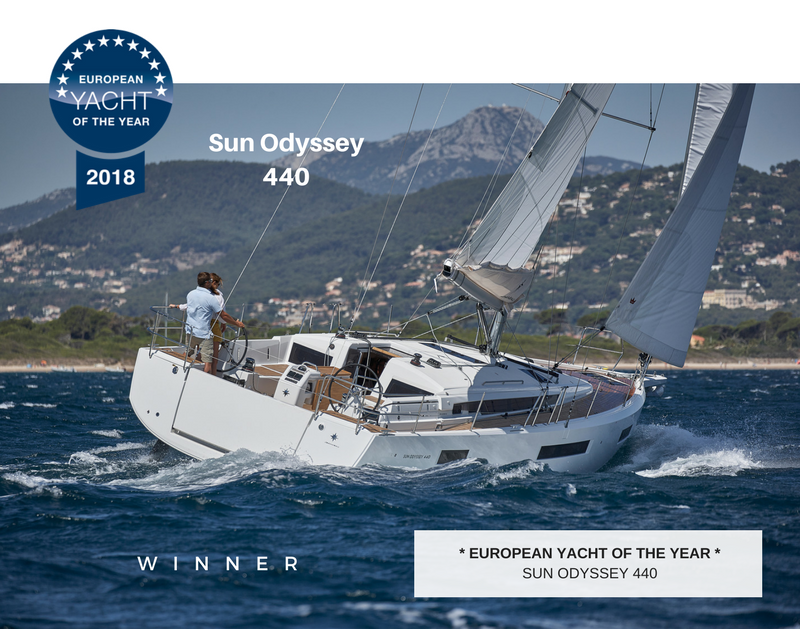"""Jeanneau Sun Odyssey 440 and 490 Awarded """"Innovation Award"""" at the Miami Boat Show!"""