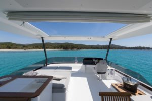View from front of Fountaine Pajot MY 44