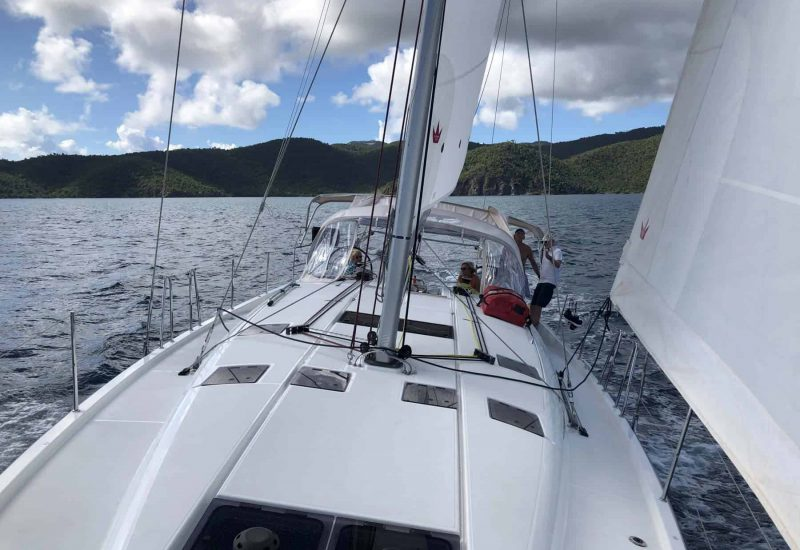 Sailing the Leeward Islands on a Jeanneau